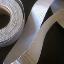 Mid Grey Milliner's Petersham Ribbon in 2 Widths